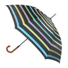 RainStopper Color Changing Stripe Stick Umbrella