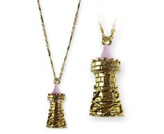 Disney Couture Icon Castle Tower Necklace - Opens into a perfume vial!