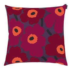A timeless pattern is always a perfect addition to any home décor. Marimekko Pieni Unikko Red/Violet Throw Pillow - $48