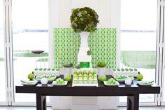 Green dessert bar!