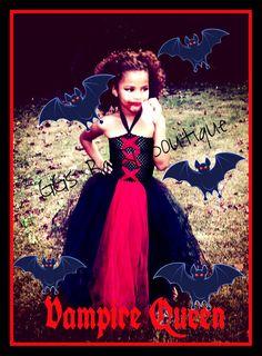 Long Vampire Tutu Halloween Costume by GGsBabyBoutique on Etsy