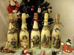 Новый год 2015 ручной работы. Ярмарка Мастеров - ручная работа Новогоднее шампанское.. Handmade.