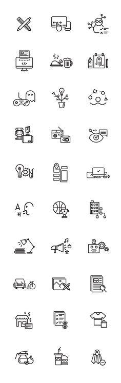 30 Free Icons on Behance