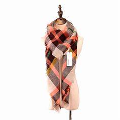 Blanket Women Shawl Tartan Plaid Checked Scarves Neck Long Scarf Winter Wraps #Vinaka