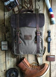 Our Leo backpack is constructed  out of durable duck canvas, thick full grain leather, and copper rivets which basically makes it nearly indestructible.