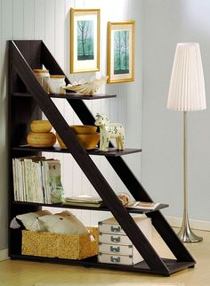 Psinta Modern Shelving Unit by Wholesale Interiors on - great for storage and as a room divider Diy Furniture, Modern Furniture, Furniture Design, Office Furniture, Furniture Storage, Studio Furniture, Brown Furniture, Minimalist Furniture, Space Furniture