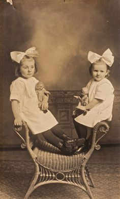 """""""Conclusion There's nothing more demonic than two bored twins.~Signed Tamaki"""" ― Bisco Hatori, Ouran High School Host Club, Vol. Photos Vintage, Vintage Children Photos, Vintage Twins, Victorian Photos, Vintage Photographs, Victorian Era, Old Photos, Antique Photos, Post Mortem Photography"""