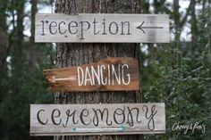 Adorable!!  Custom Wedding Signs by ChevvyandRons on Etsy, $20.00