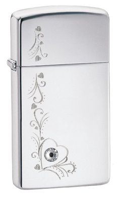 Zippo High Polish Slim Vine of Hearts Lighter >>> Click on the image for additional details.