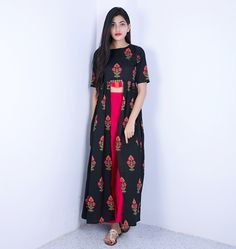Make you style unique with awesome Indian ethnic dresses. We brought trendy indo western dresses like combo of ethnic and western wear. Indian Gowns, Indian Attire, Indian Wear, Indian Outfits, Churidar, Patiala, Anarkali, Lehenga Gown, Look Short