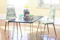 vintage children's furniture - a hippie floral kids set | The Salvaged Boutique