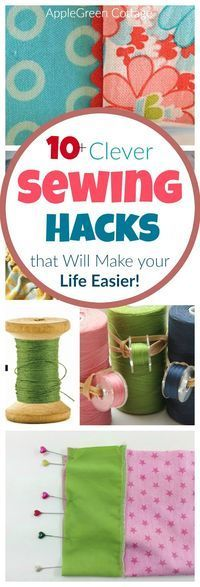 clever sewing hacks you absolutely need to know! ​They will make your ​sewing and ​life easier​. Some of the​m are so amazingly simple you just ​won't believe you haven't thought of yourself!
