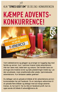 Campaign using Newsperience Facebook Photo App / fotokonkurrence  IMERCO advent
