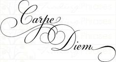 Carpe Diem Tattoo Typography