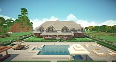 Traditional Brick House Minecraft building 3