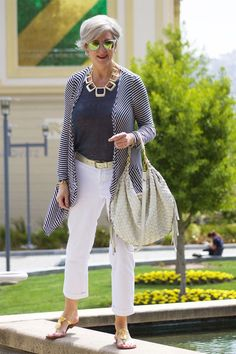 Beth Djalali - she has a great blog called style at a certain age. I was thinking of this kind of outfit for travelling in. Maybe with pumps or deck shoes as my feet get cold on a plane!...