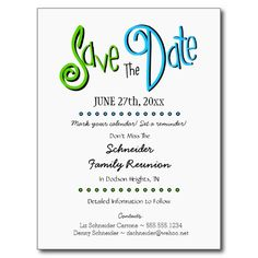 Family tree reunion party invitations templates invitation template fun family reunion or party save the date announcement postcard stopboris Image collections