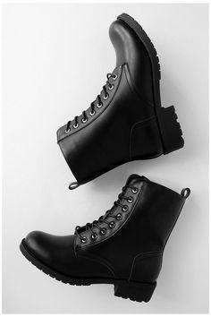 Black Shoe Boots, Lace Up Combat Boots, Black High Heels, Black Lace Up Boots, Women's Boots, Black Leather Combat Boots, Black Wedge Boots, Black Winter Boots, Mens Shoes Boots