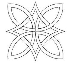 Celtic knots--- I like this simple design Celtic Quilt, Celtic Symbols, Celtic Art, Celtic Knots, Celtic Crosses, Quilting Stencils, Quilting Designs, Embroidery Patterns, Quilt Patterns
