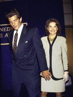 Jackie Kennedy Onassis and John F Kennedy Jr