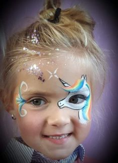My favorite Unicorn Face Painting Unicorn, Eye Face Painting, Face Painting Designs, Face Art, Body Painting, Unicorn And Fairies, Unicorn Kids, Unicorn Face, Animal Face Paintings
