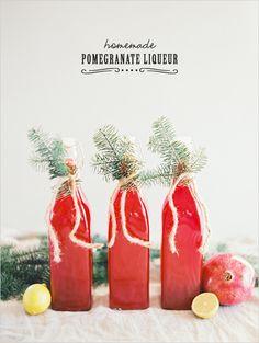 Homemade Pomegranate Liqueur http://www.weddingchicks.com/2013/12/25/artisanal-cocktail-recipes/