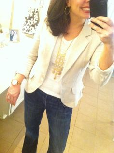 What I Wore-Fashion for Women Over 40 - Grace & Beauty Fashion For Women Over 40, Fashion Over, Classic Outfits, Cute Outfits, Work Outfits, Spring Outfits, Spring Clothes, Blazer Outfits, Jean Outfits