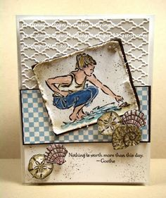Stamping with Julie Gearinger: Dog Days of Summer- Virtual Stamp Night #1 :-)