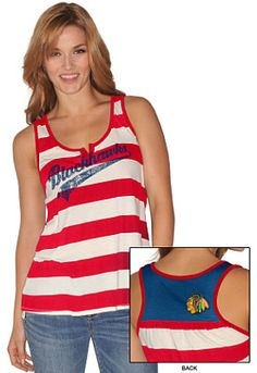 GIII Chicago Blackhawks Womens Golden Arm Tank-Top - Shop.NHL.com