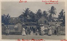 Caribbean Histories Revealed —   The National Archives of Britain  Photograph of The Market, Plymouth in Montserrat, 1914.    Strange to think my relatives may be in this picture, makes you think.