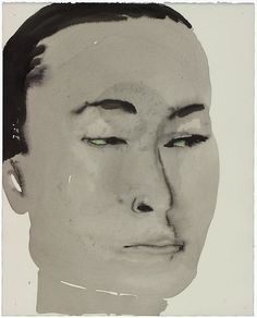 Marlene Dumas   gewassen inkt, krijt op papier   (100x) 62 x 50 cm   Locatie VAM, B2, 02, 00   Verworven in 1994   Inventarisnr 2065