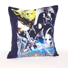 One of a kind Star Wars pillow featuring Yoda and Darth Vader. As soft as your favorite tee shirt x pillow Envelope closure in the back for easy washing and care Made in the U. Disney Pillows, Star Wars Bedroom, Jedi Sith, Star Wars Outfits, Love Stars, Star Wars Characters, Best Christmas Gifts, Classic Movies, Good Movies