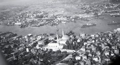 Yavuz Selim Camii ve Haliç'in Havadan Görünümü / 1950