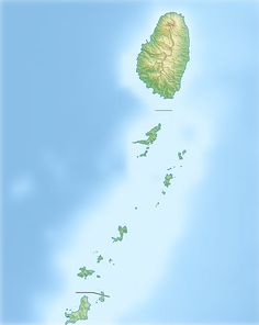 Saint Vincent and the Grenadines relief location map ◆St. Vincent und die Grenadinen – Wikipedia http://de.wikipedia.org/wiki/St._Vincent_und_die_Grenadinen #Saint_Vincent_and_the_Grenadines