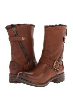 Brown Bluckled Boots