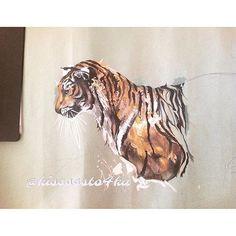 Тигрррр  от  @kisssssto4ka ・・・Тигра #рисуй #рисунок #эскиз #скетч #иллюстрация #тигр #анималистика #природа #животные #вдохновение #артбук #дизайн #искусство #творчество