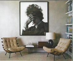Love these 60's Brazillian chairs. I can see them with the tufted sofa from Restoration Hardware. Sigh. If only I could win the lotto.  (Also found in Elle Decor.)