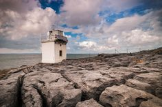 Black Head Lighthouse on the most northerly tip of County Clare. Located on the edge of the Burren over looking Galway Bay just up the road from Fanore. - Via Jarlath Gray