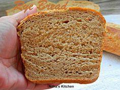 Nitha Kitchen: Tangzhong Rye Bread | Whole Grain Bread