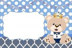 Baby Shower Niño, Teddy Bear Baby Shower, Create Invitations, Baptism Invitations, Theme Bapteme, Baby Shower Invitaciones, Bear Theme, Baby Shawer, Happy Birthday Messages