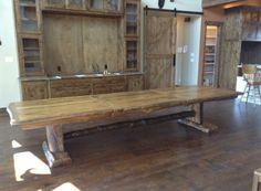 Handmade custom 13' oak table