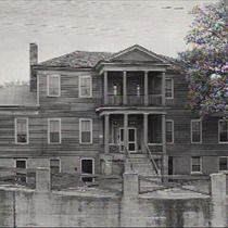 This home was one of four structures that were left standing after the Battle of Decatur [AL]  in October 1864 during the Civil War. The home survived the ravages of the battle including occupation by Union troops.  Built in 1829, by Colonel Francis Dancy. The home later passed to his granddaughter Lavinia Dancy-Polk. she used it as a boarding house after her husband, Dr. Thomas Polk passed away. (collection Morgan County Archive)