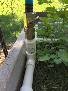 Water Your Garden Without Gluing Any PVC. Need 1 Brass Garden Hose Ball  Valve,