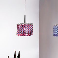 Masiero Aurea 1 Light Mini Pendant Finish: Chrome, Crystal Type: Asfour, Crystal Color: Clear