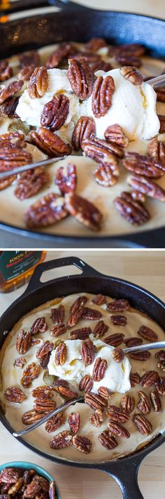 This recipe for Hot Maple Cake with Crackle Icing and Maple Candied Pecans is delicious and easy! A hot yellow cake with maple icing and candied pecans.