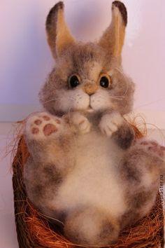Игрушки животные, ручной работы. Ярмарка Мастеров - ручная работа Кролик. Handmade.