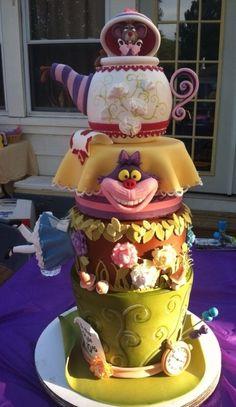 Alice in Wonderland taart