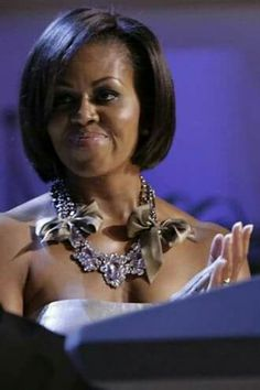 Intelligent Attorney and First Lady Michelle Obama.