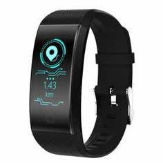 Fitness smartwatch, WQ18, impermeabile, nero