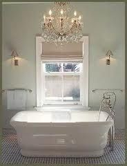 Need a chandelier over the tub
